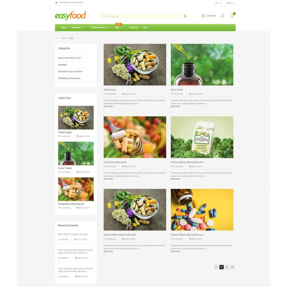 theme - Food & Restaurant - EasyFood Store - 5