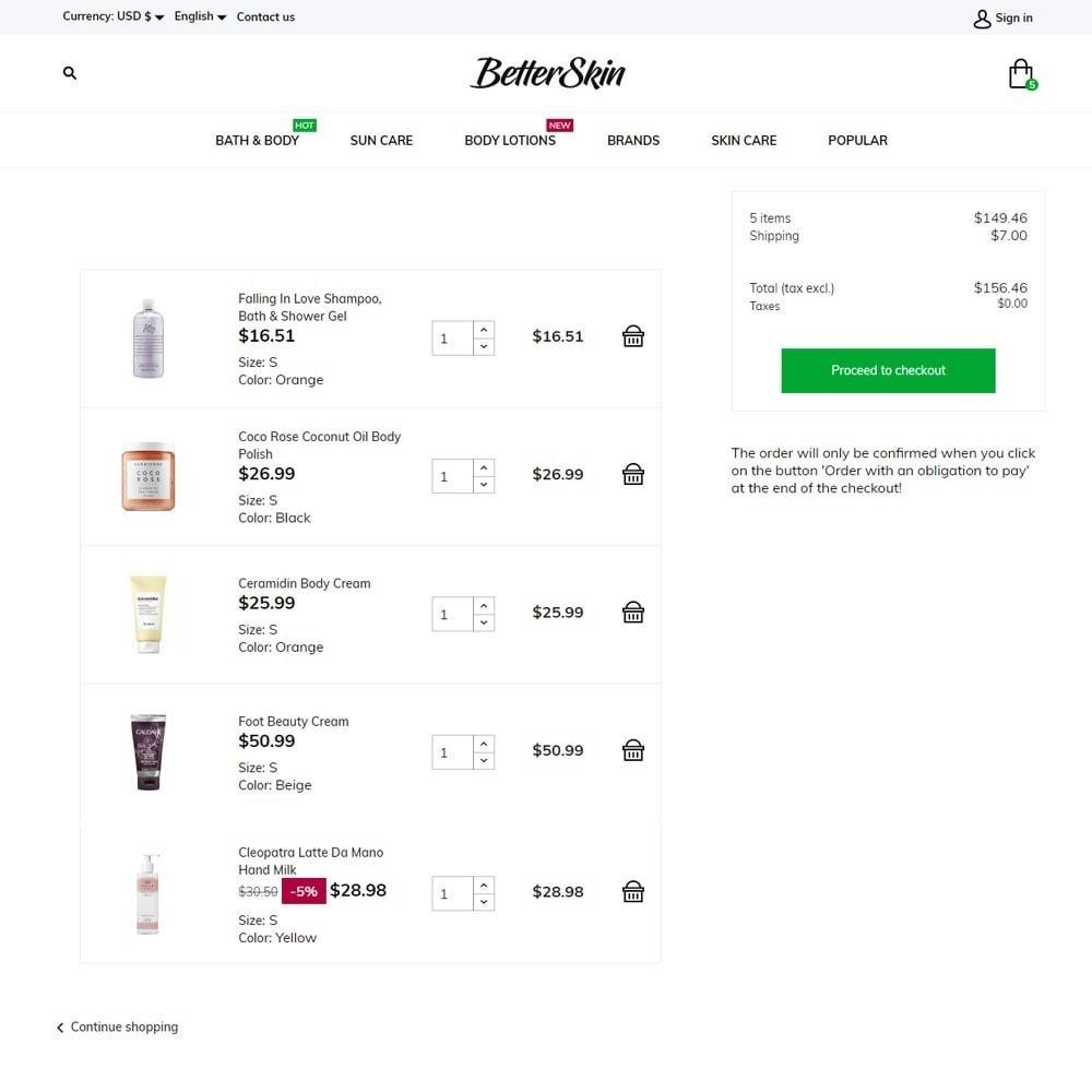theme - Health & Beauty - BetterSkin Cosmetics - 7