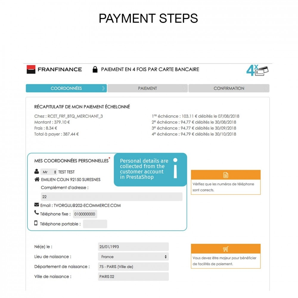 module - Zahlung per Kreditkarte oder Wallet - Payment solutions with Franfinance - 6