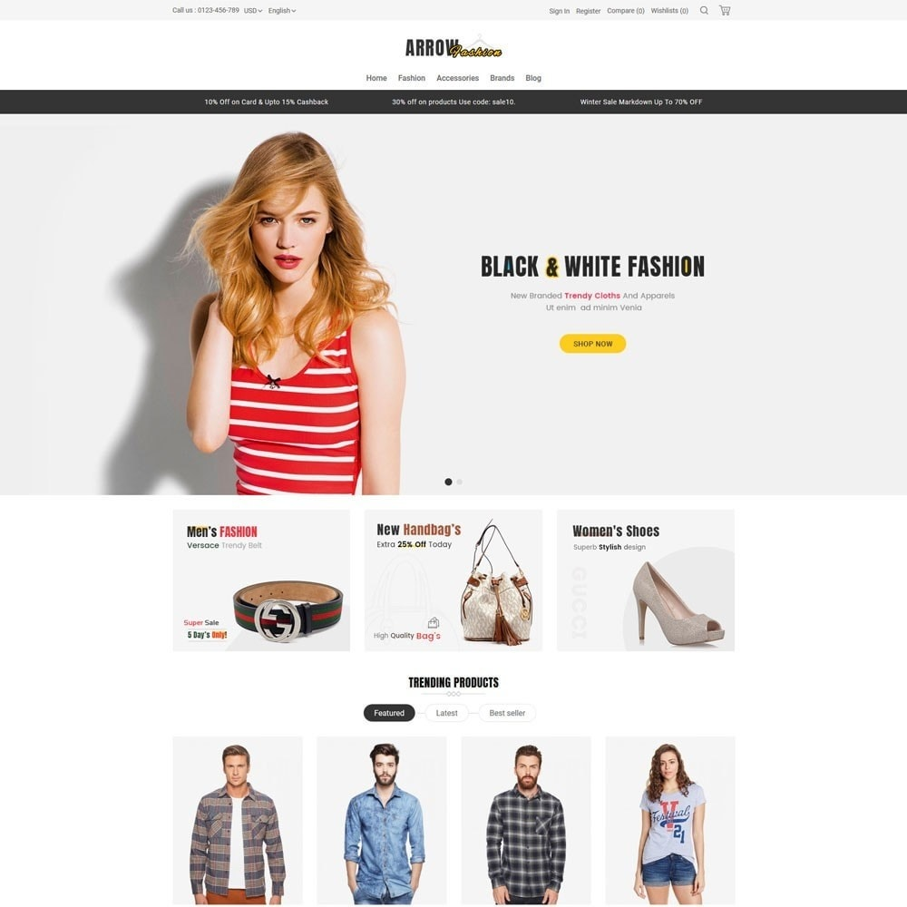 theme - Мода и обувь - Arrow Fashion V2 Store - 2
