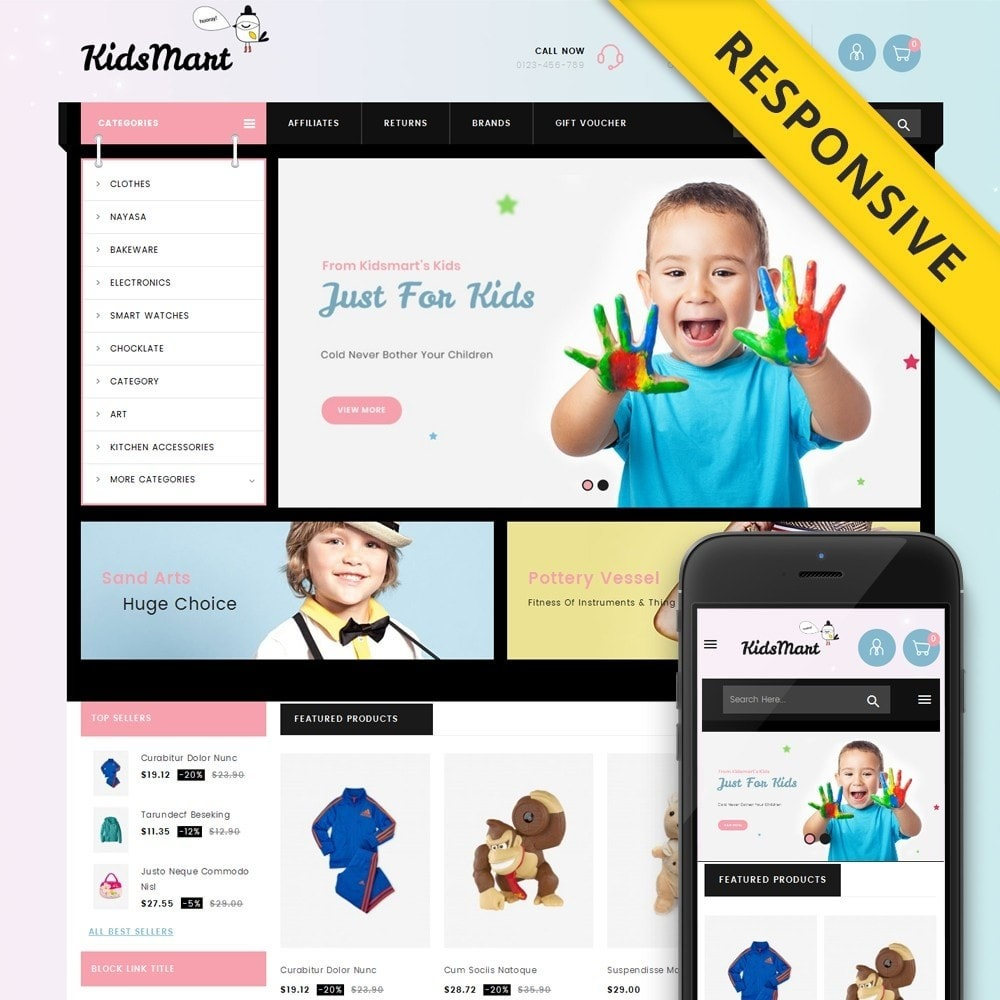 theme - Kids & Toys - Kids Mart Store - 1