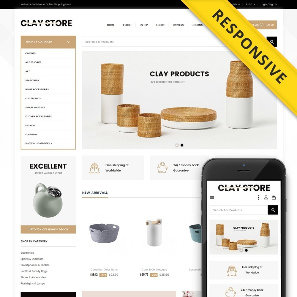 theme - Casa & Jardins - Clay - Home Accessories Store - 1