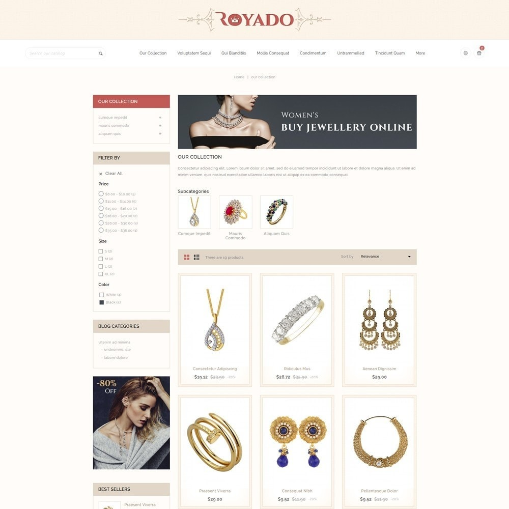 theme - Jewelry & Accessories - Royado - The Beauty Shop - 4