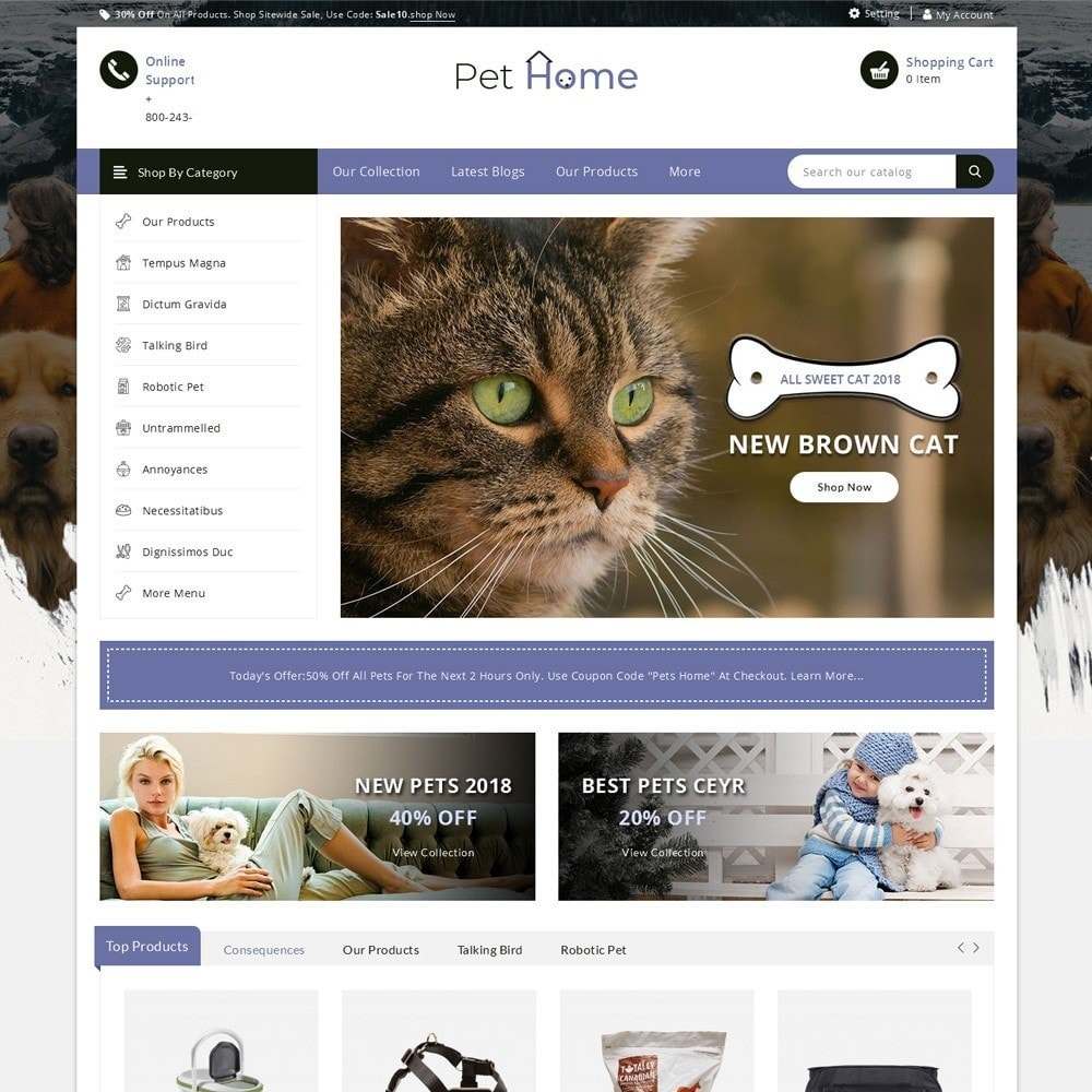 theme - Animaux - Pethome - The Animal Shop - 2