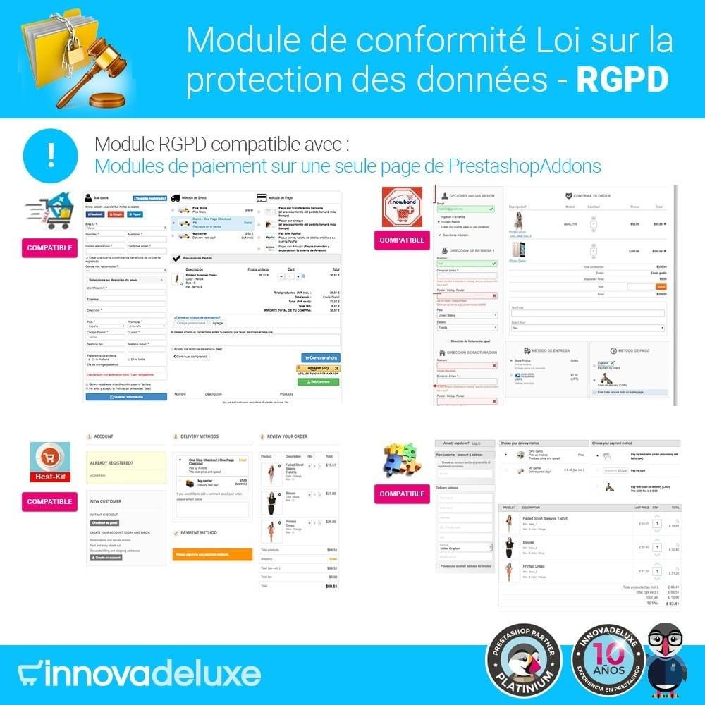 module - Législation - Conformité à la Loi sur la protection des données RGPD - 18