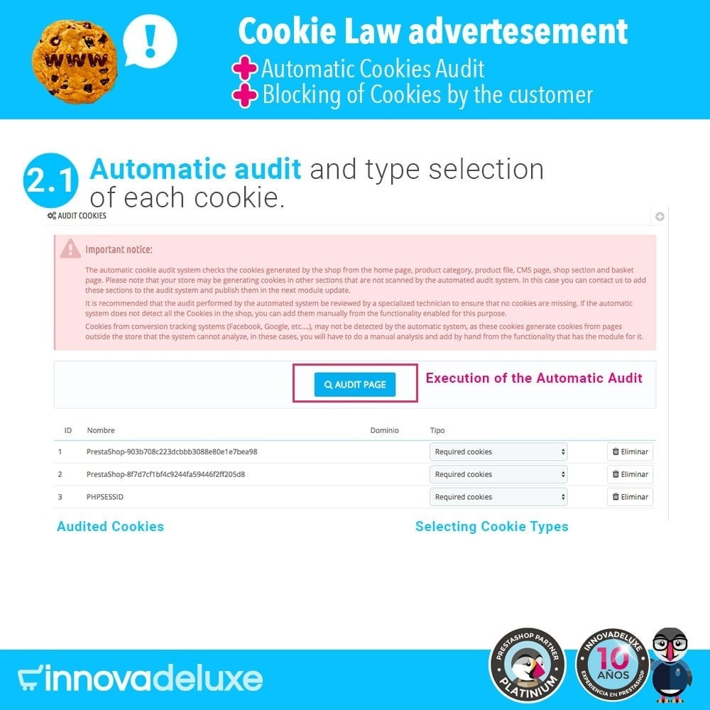 module - Juridisch - GDPR Cookies Law (Advice - Audit - Blocking) - 3
