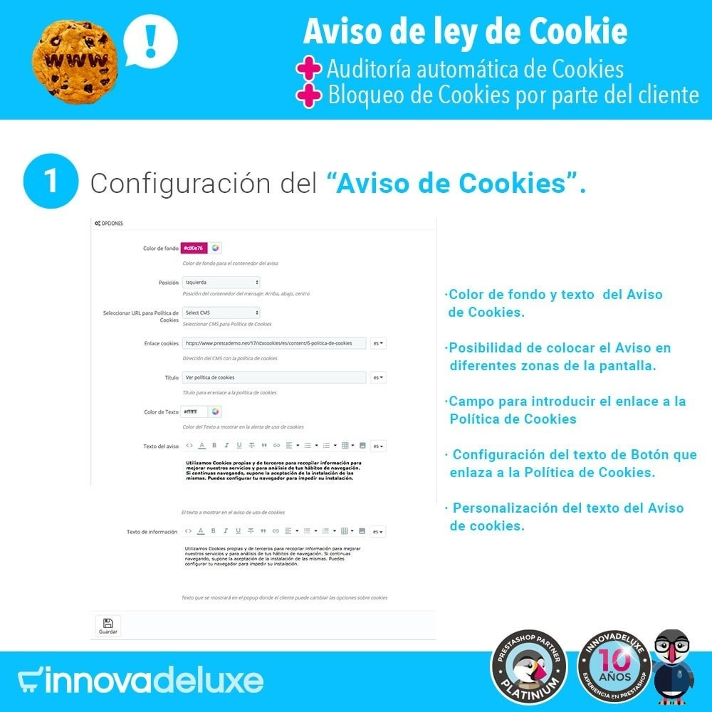 module - Marco Legal (Ley Europea) - Ley de Cookies RGPD/LOPD (Aviso - Auditoría - Bloqueo) - 2