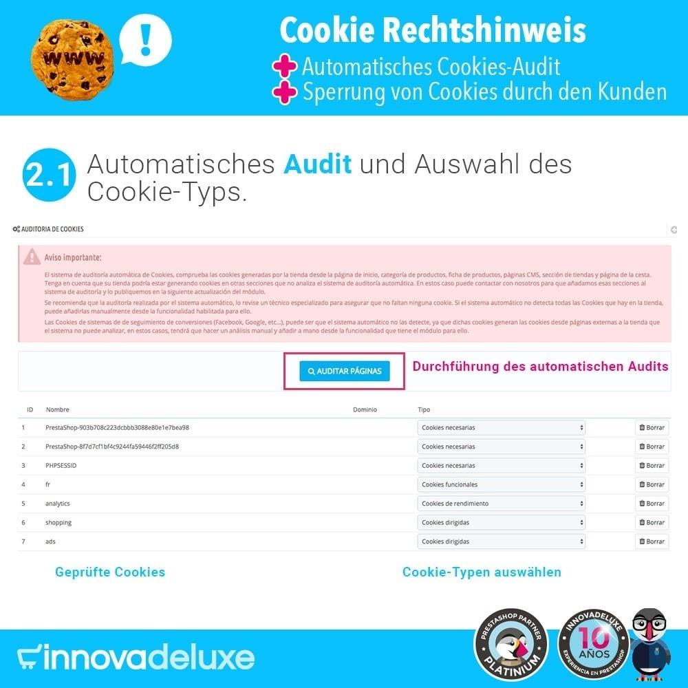 module - Rechtssicherheit - GDPR-Cookies-Gesetz (Hinweis - Audit - Sperrung) - 3