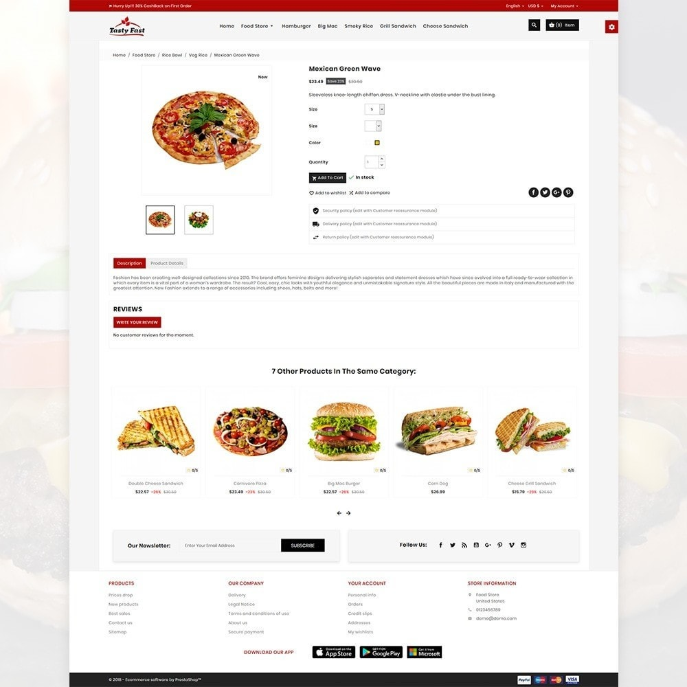 theme - Alimentation & Restauration - Tasty Fast – The Food and Drink Shop - 4