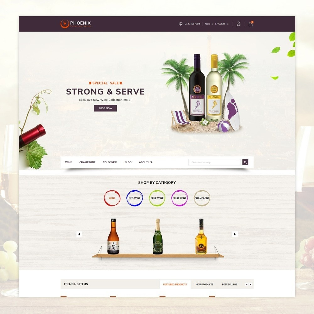 theme - Drink & Tobacco - Phoenix - Wine Shop - 2