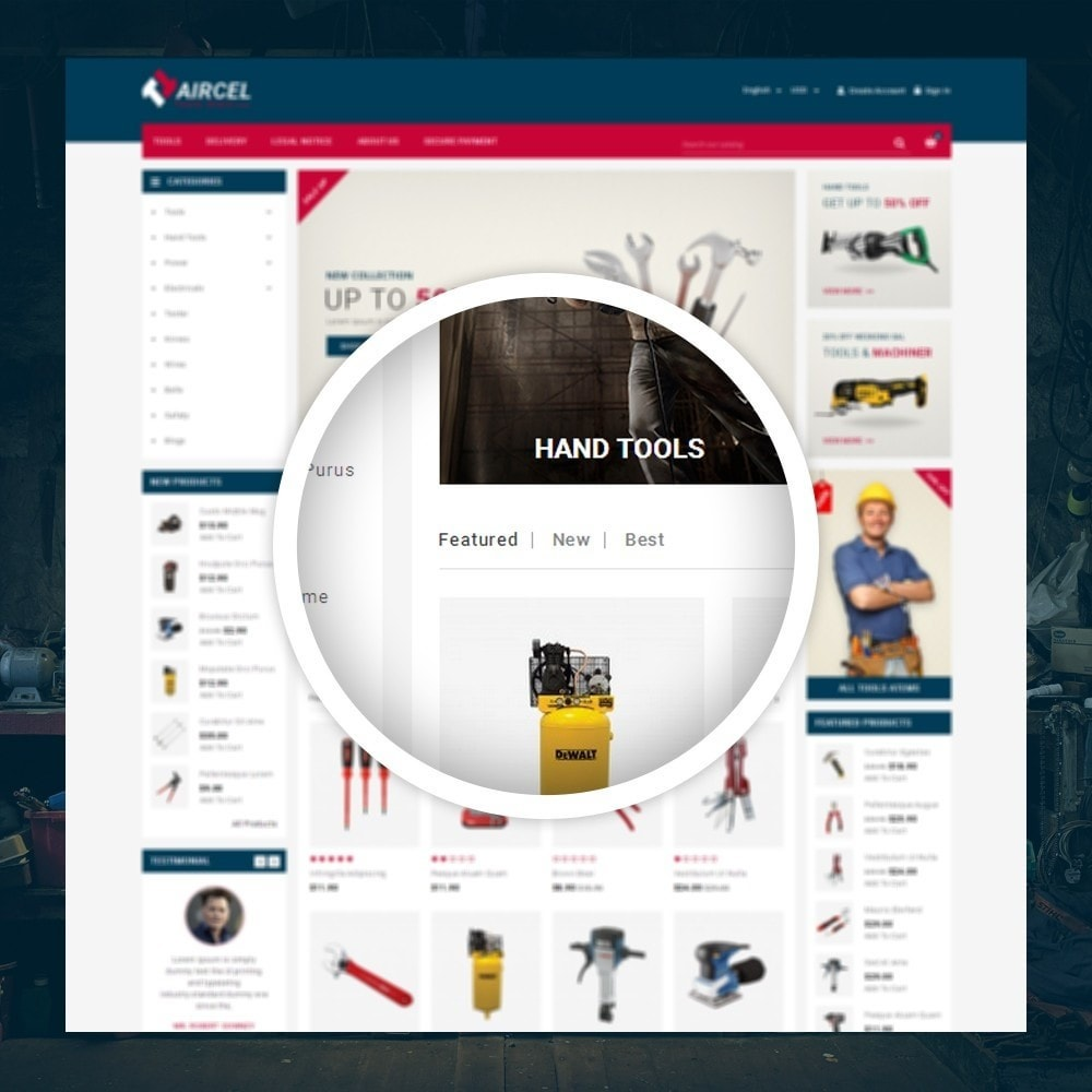 theme - Sports, Activities & Travel - Aircel - Tools Shop - 9