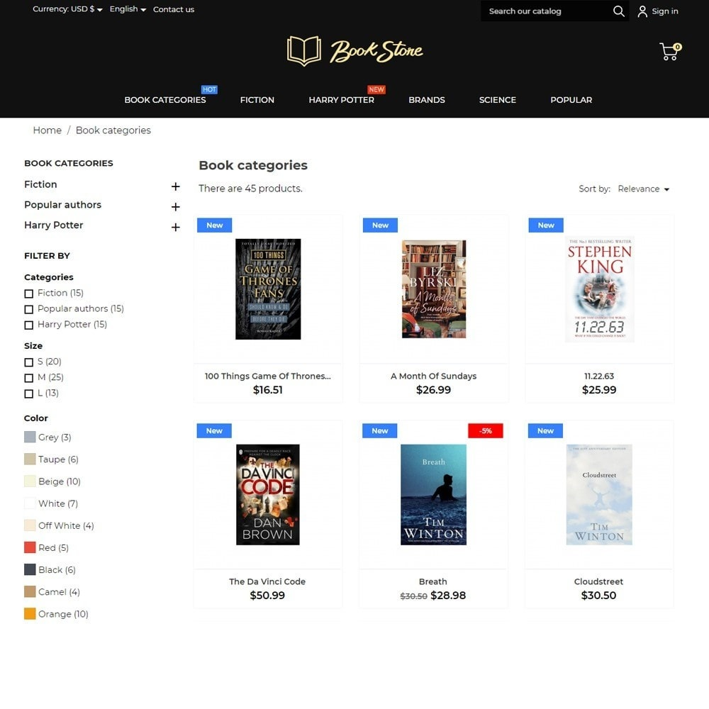 theme - Art & Culture - Book Store - 6