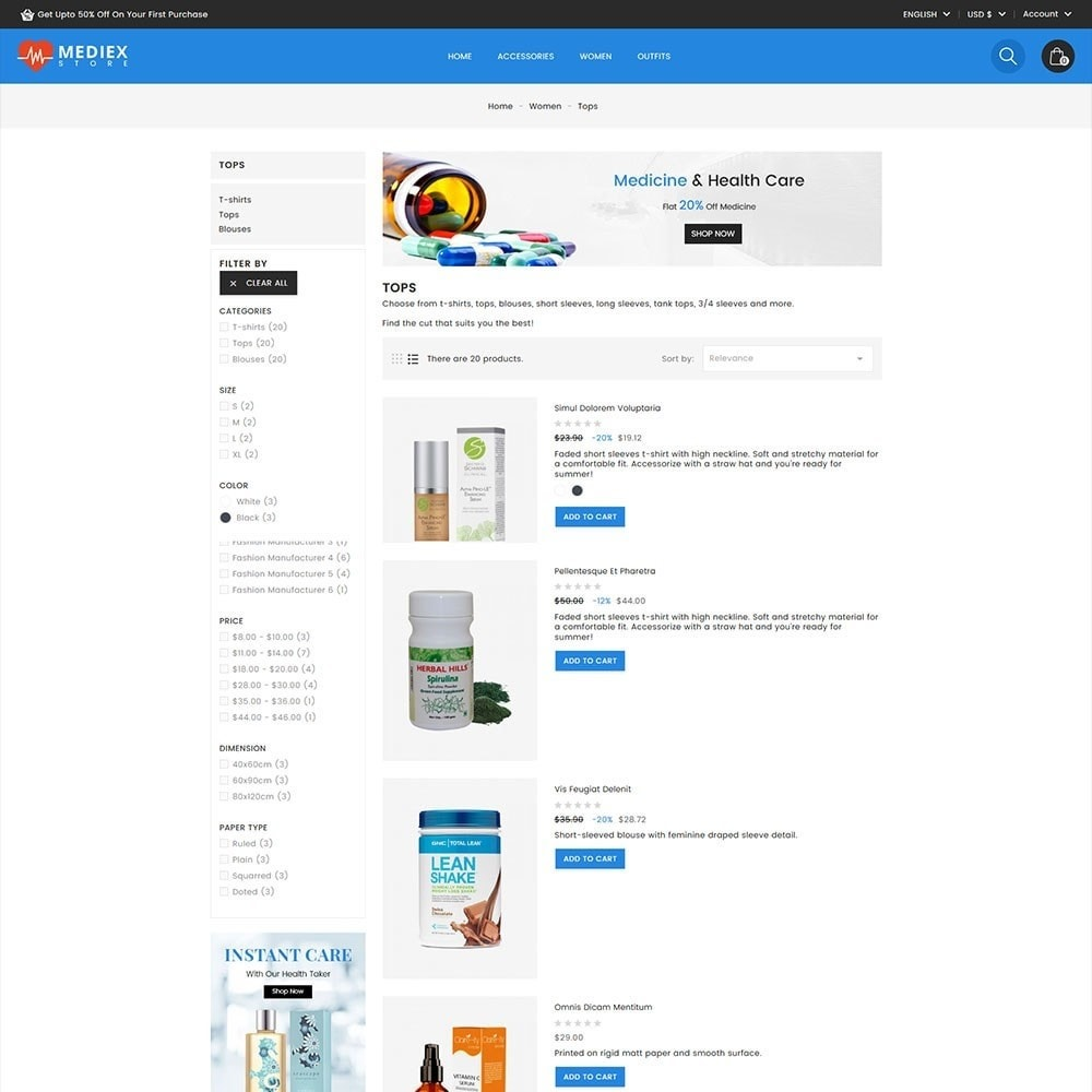 theme - Health & Beauty - Mediex Health and Medical Store - 5