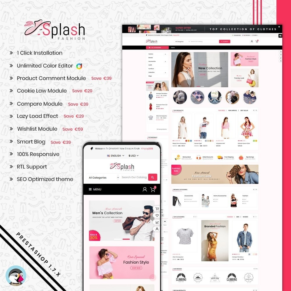 theme - Mode & Chaussures - Splash Fashion Store - 1