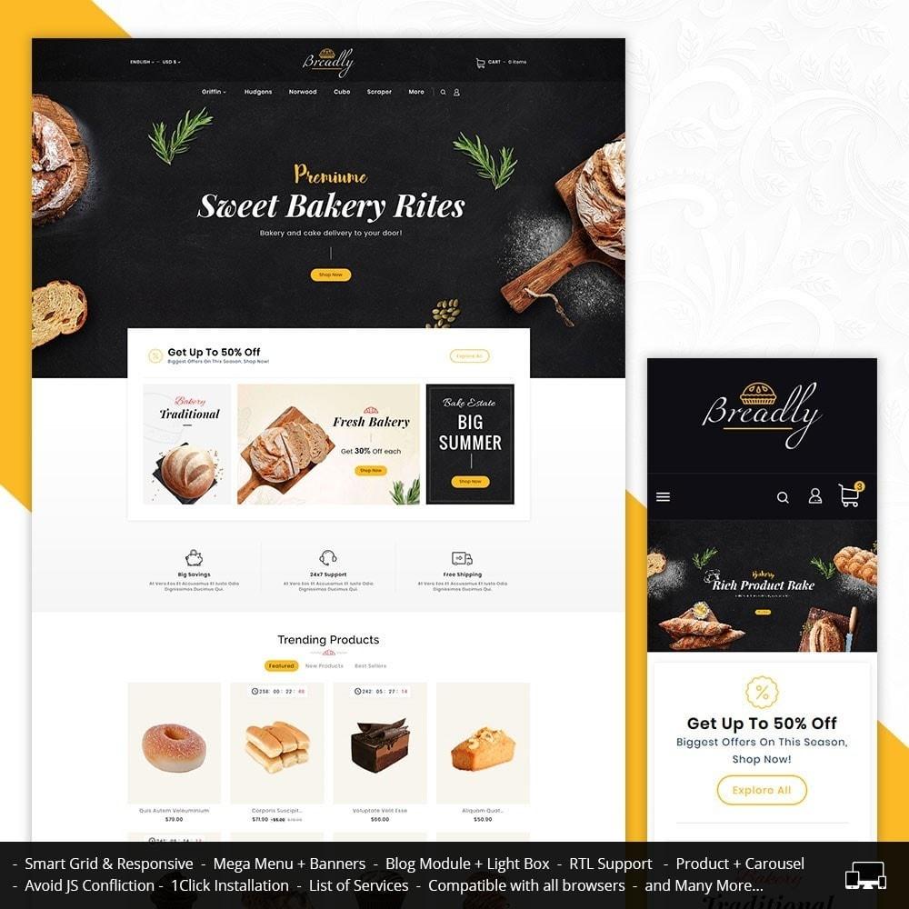 theme - Food & Restaurant - Breadly - Bakery & Cakes - 1