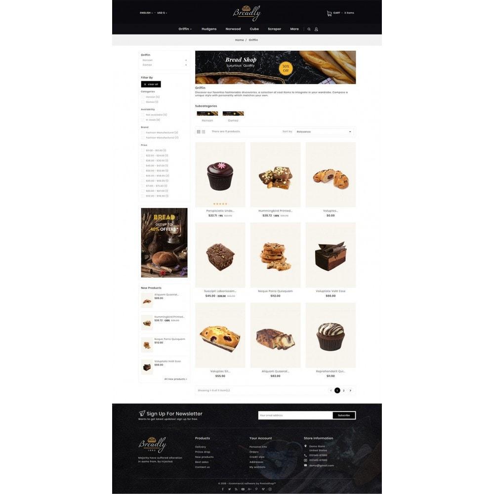 theme - Food & Restaurant - Breadly - Bakery & Cakes - 5