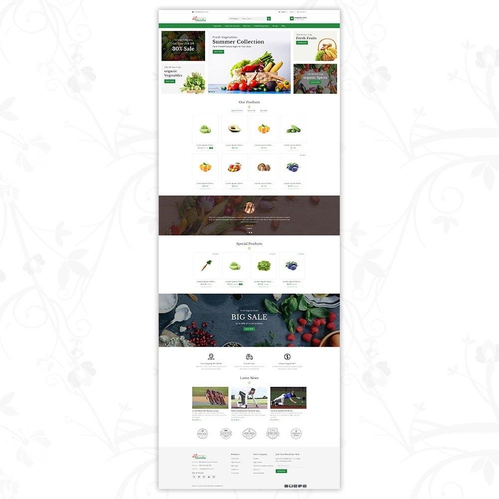 theme - Food & Restaurant - Vegetable Shrub - Organic Store - 2