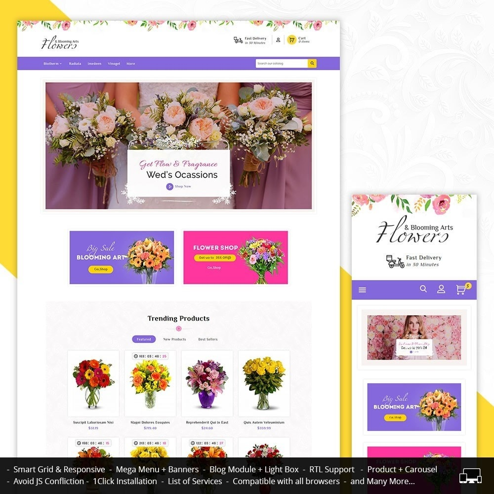 theme - Gifts, Flowers & Celebrations - Flowers & Blooming Arts - 1