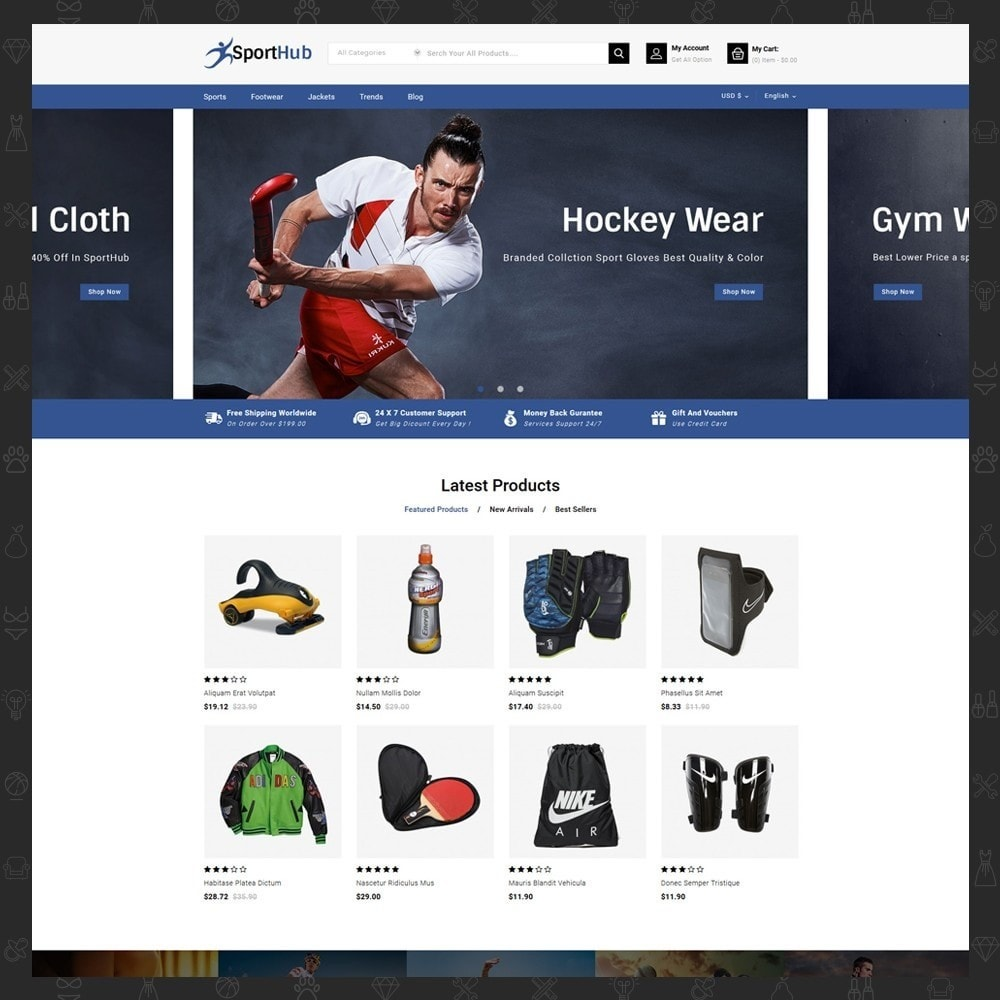 theme - Sports, Activities & Travel - Sport Hub Sports Store - 2