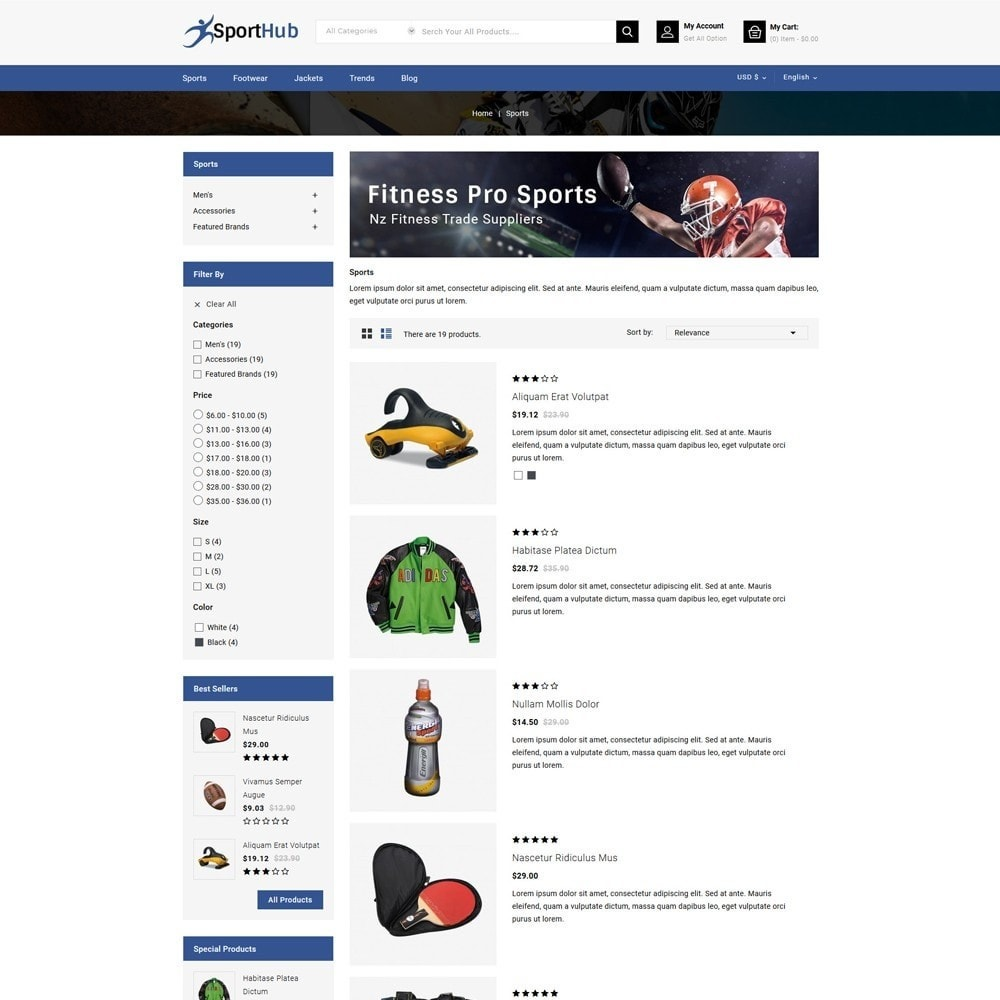 theme - Sports, Activities & Travel - Sport Hub Sports Store - 4