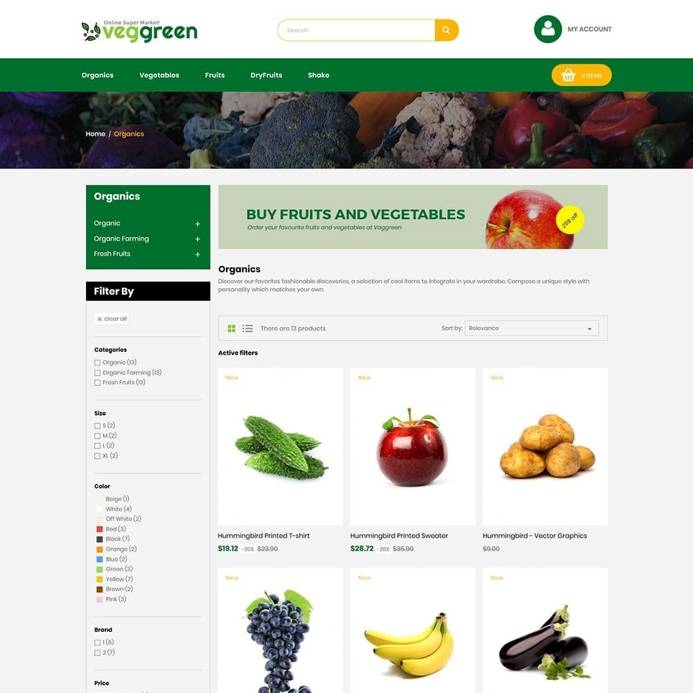 theme - Food & Restaurant - Veggreen Food Store - 3