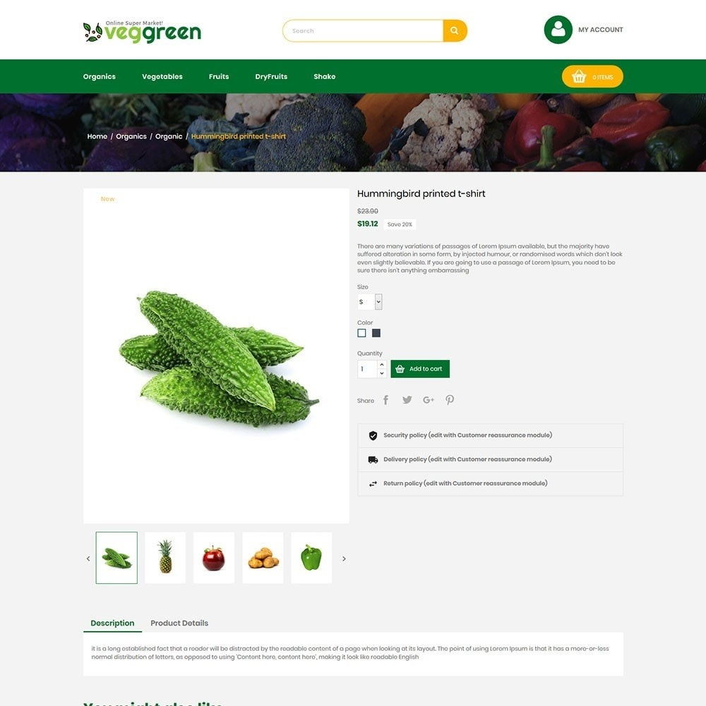 theme - Food & Restaurant - Veggreen Food Store - 5
