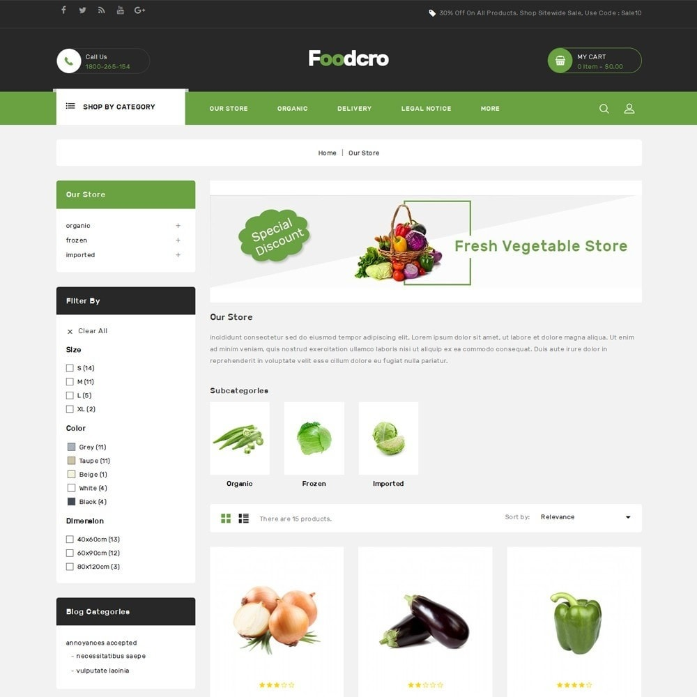 theme - Food & Restaurant - Foodcro - The Organic Food Store - 4