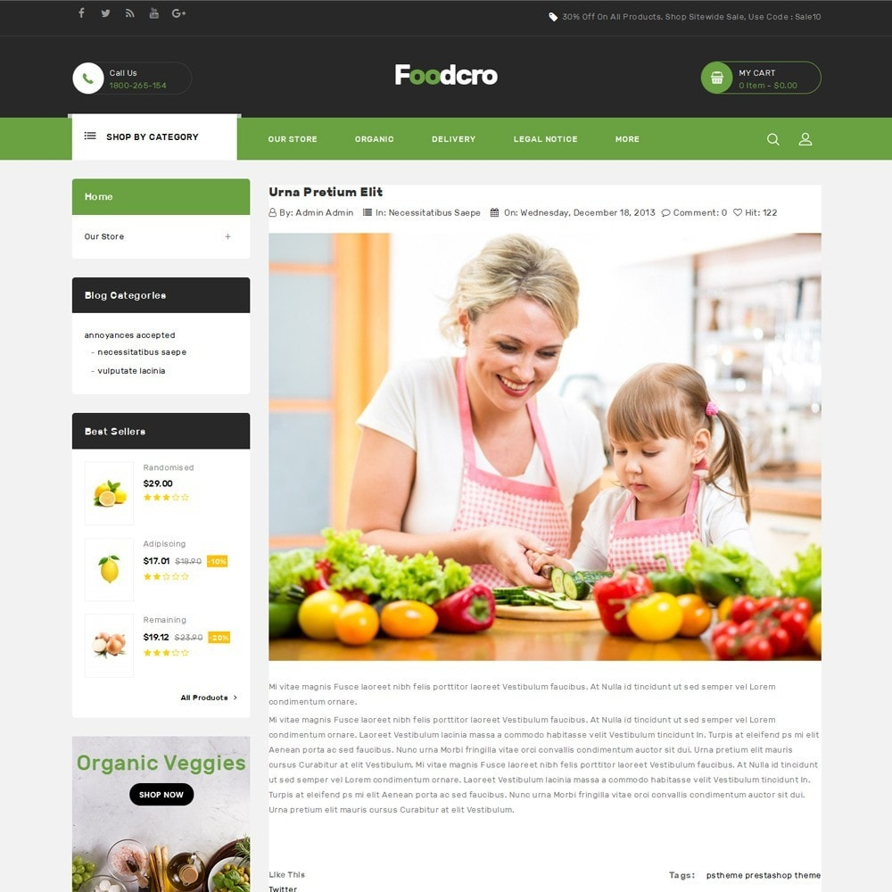 theme - Food & Restaurant - Foodcro - The Organic Food Store - 7