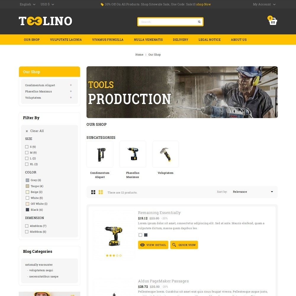theme - Automotive & Cars - Tooline - The Tool Store - 5