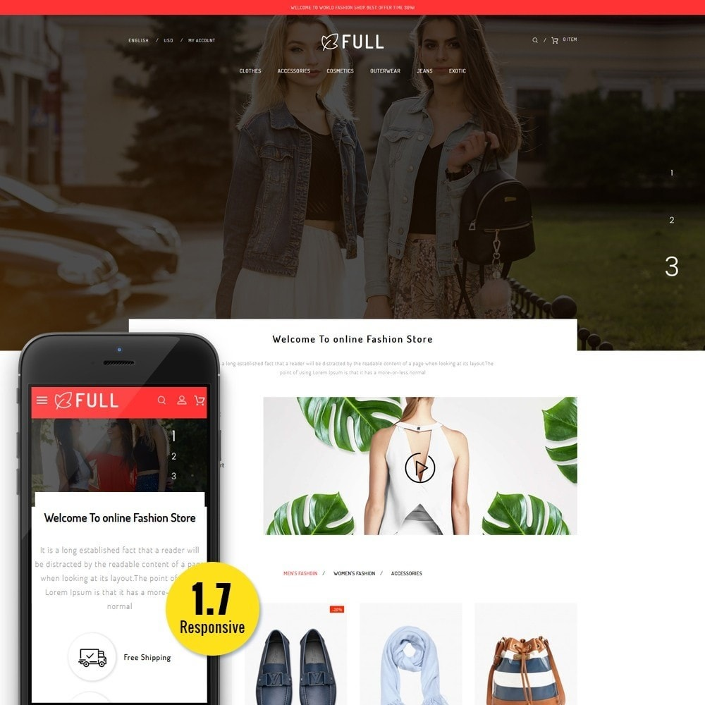 theme - Fashion & Shoes - Full Fashion Store - 1