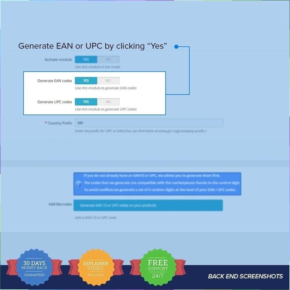 module - Gestión de Stock y de Proveedores - Generador de códigos EAN - UPC - 2