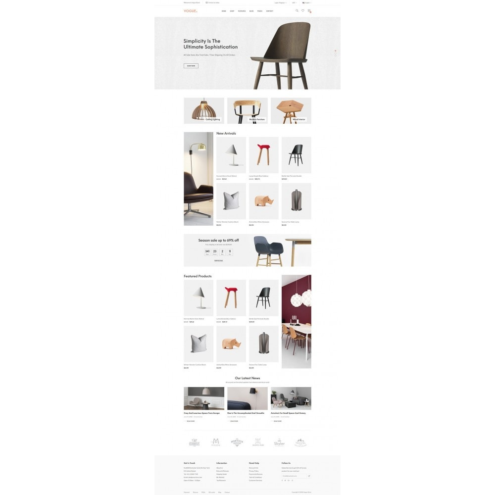 theme - Home & Garden - Vogue - Furniture Store - 9