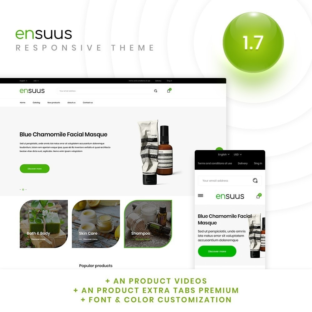 theme - Health & Beauty - Ensuus Cosmetics - 1
