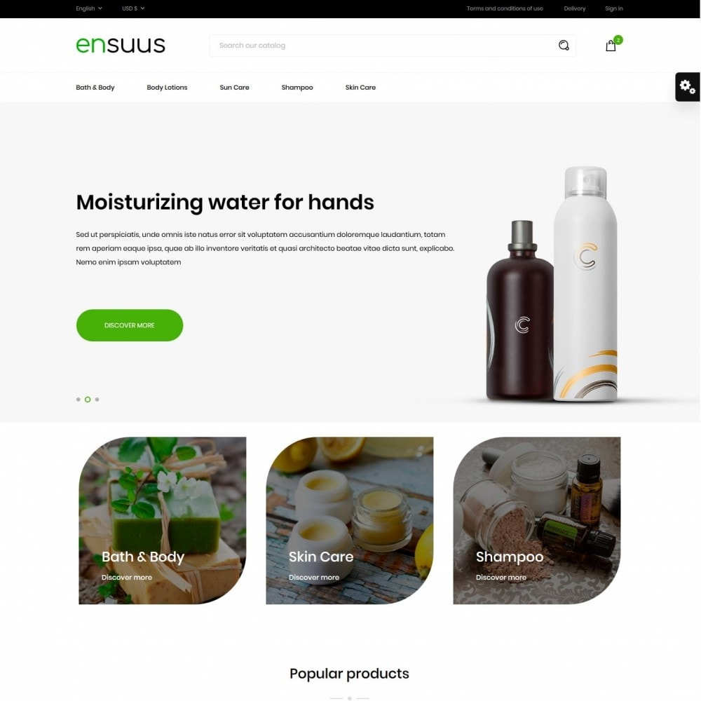 theme - Health & Beauty - Ensuus Cosmetics - 2