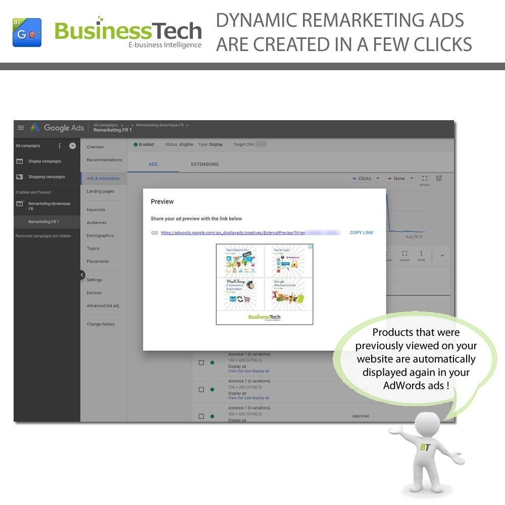 module - Перенаправление и Брошенные корзины - Google Dynamic Remarketing - Google-Ads tag - 4