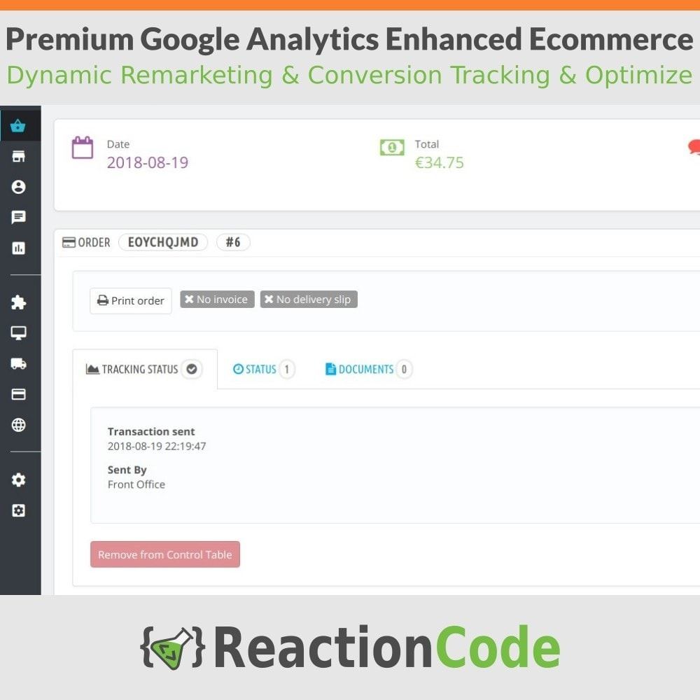 module - Analyses & Statistiques - Premium Google Analytics Enhanced Ecommerce - 11