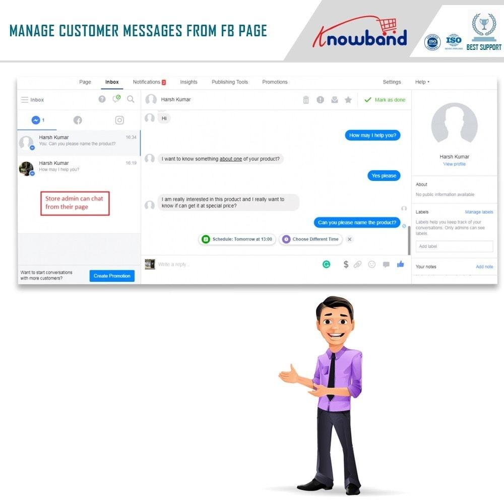 module - Поддержка и онлайн-чат - Knowband- Social Messenger, Live Chat Support - 6