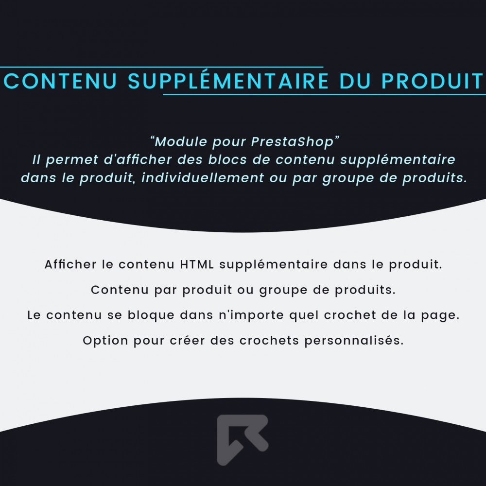 module - Information supplémentaire & Onglet produit - Contenu Supplémentaire du Produit - 2