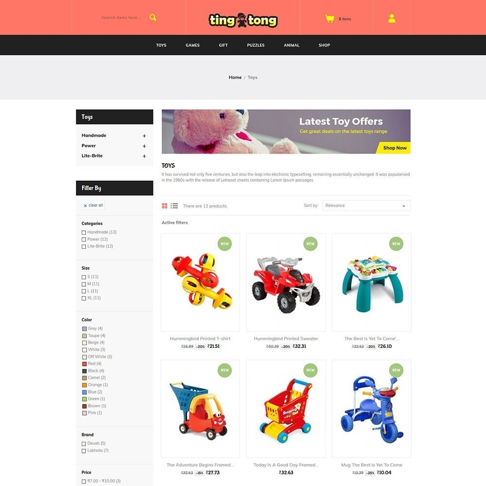 theme - Kids & Toys - Ting Tong - Toys Store - 3