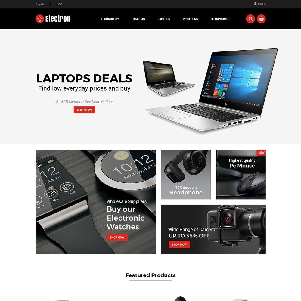 theme - Electronics & Computers - Electron Electronics Store - 1