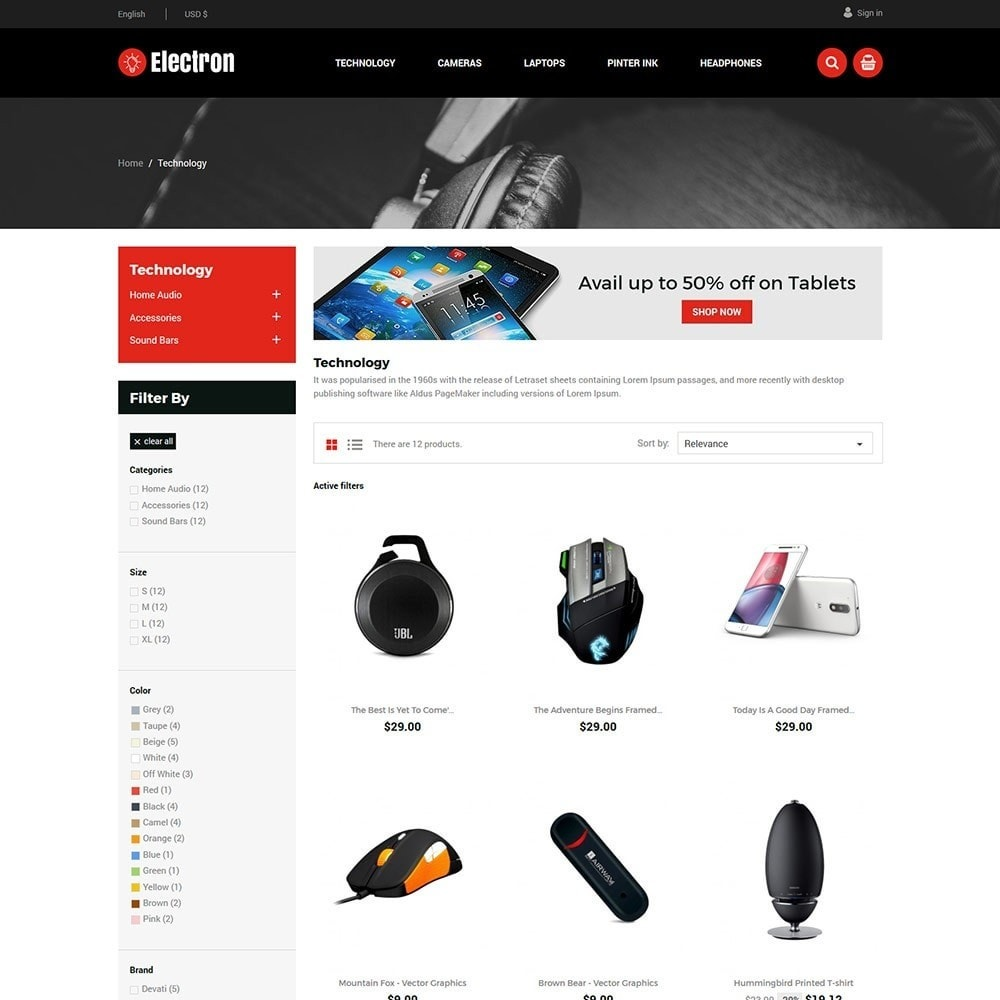 theme - Elektronica & High Tech - Electron Electronics Store - 2