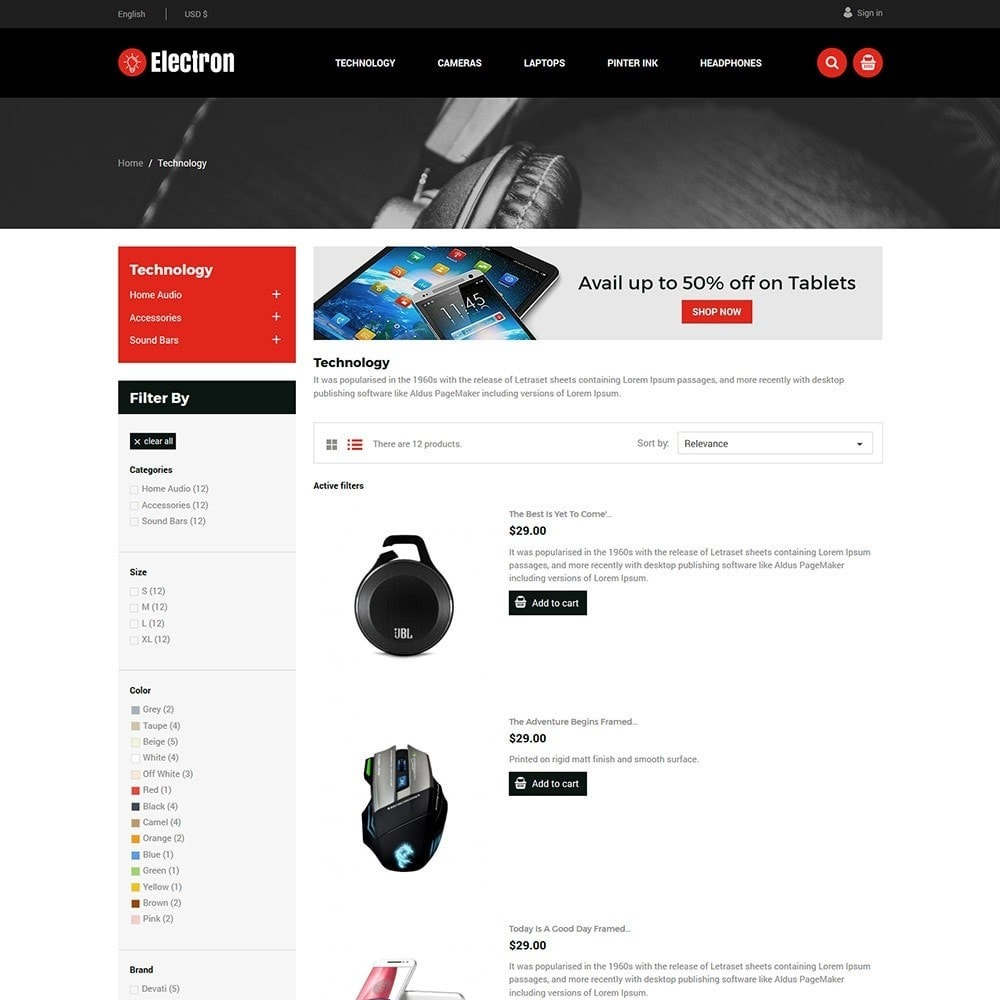 theme - Elektronica & High Tech - Electron Electronics Store - 3