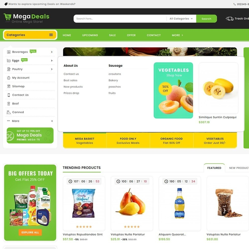 theme - Food & Restaurant - Mega Deals Organic Grocery - 10