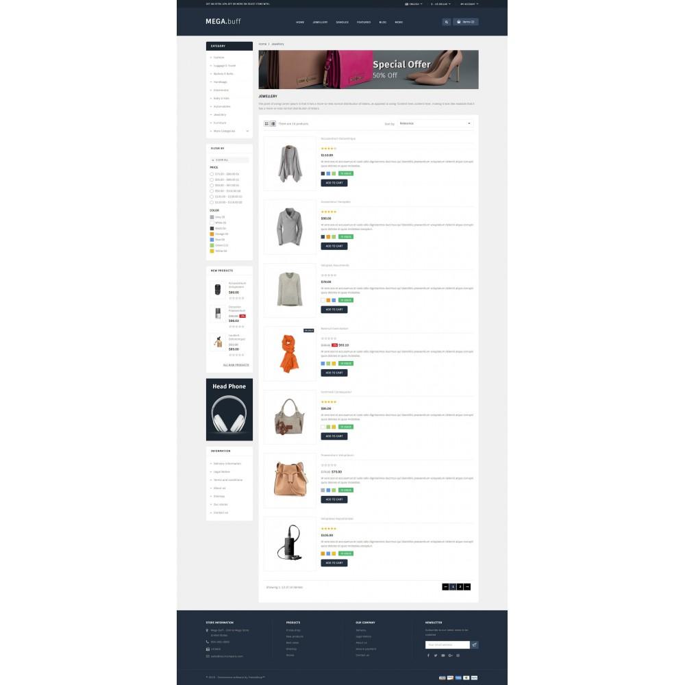 theme - Fashion & Shoes - Mega Buff - Multi purpose store - 3