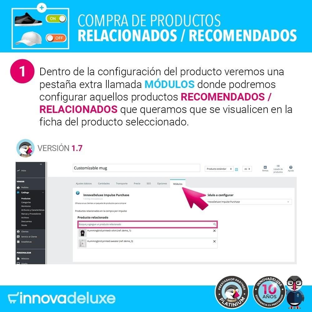 module - Ventas cruzadas y Packs de productos - Productos sugeridos para compra impulsiva - 2