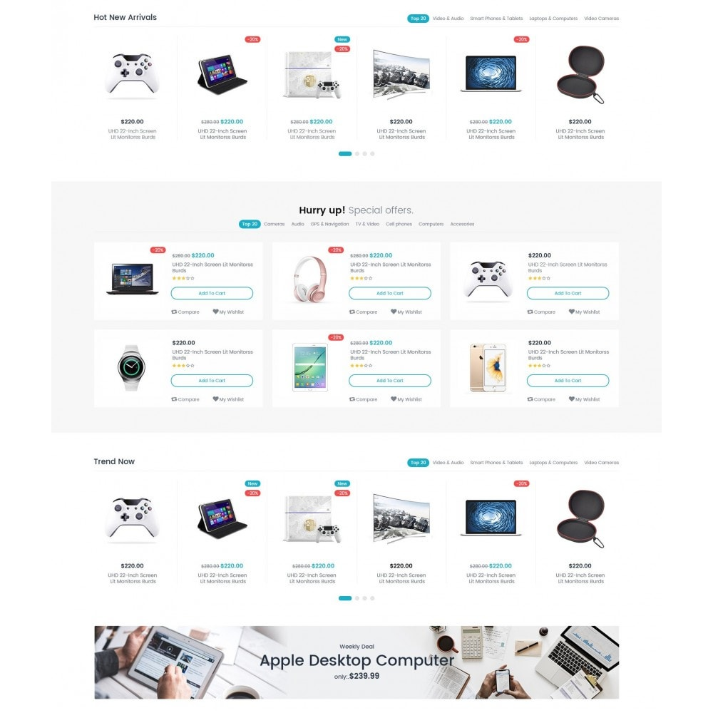 theme - Eletrônicos & High Tech - AEON Electronic Store - 3