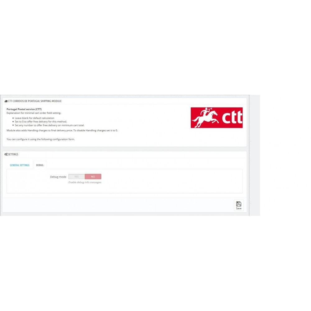 module - Kurierzy - Portugal Post (CTT) - 2