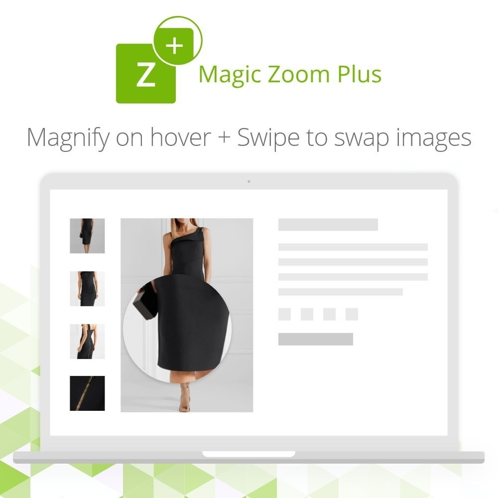 module - Visual dos produtos - Magic Zoom Plus - 3