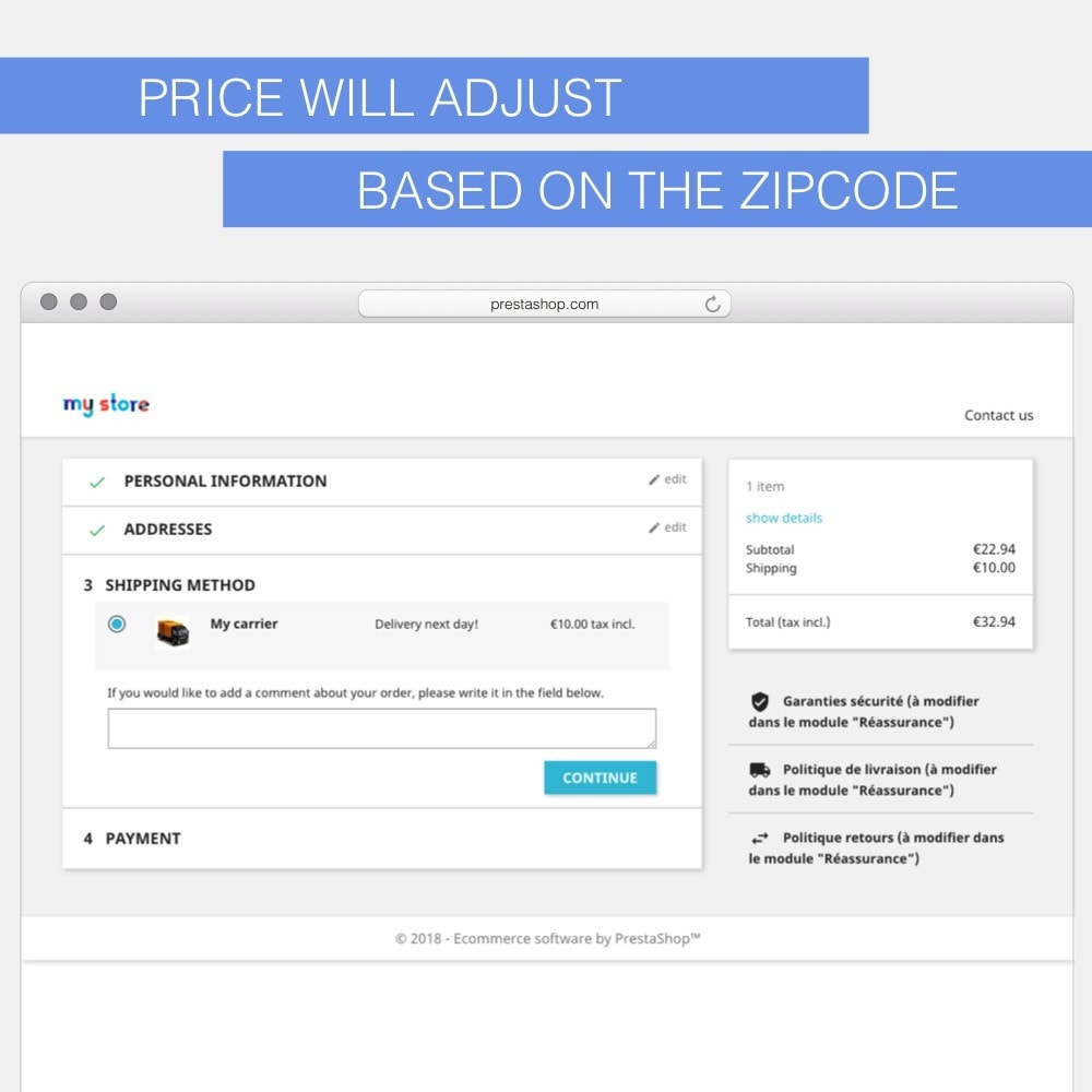 module - Стоимость доставки - Shipping fees based on zipcodes - 6