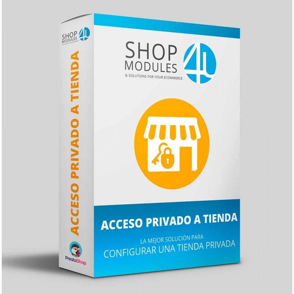 module - Seguridad y Accesos - Acceso privado a tienda - 1